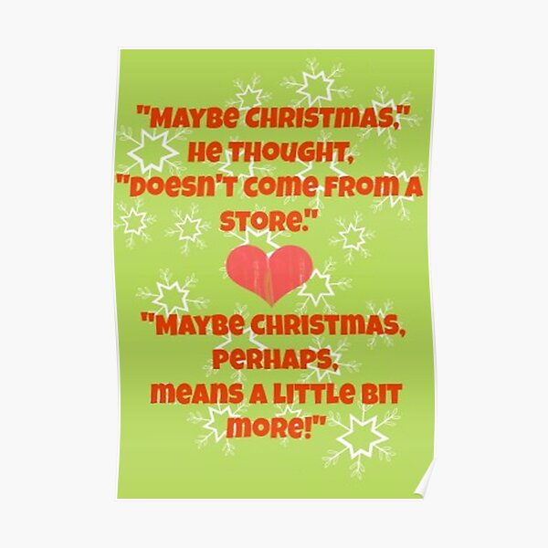 The Grinch Quotes Poster
