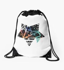 Inked Colorful Star Rotated Drawstring Bag