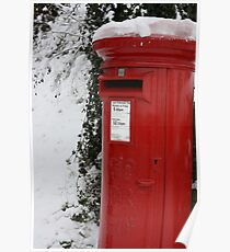 Brilliant Red Postbox Poster