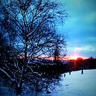 Snowy sunset by Richard Pitman