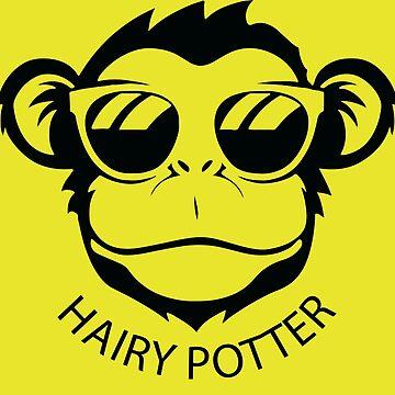 Fun Hairy Potter Monkey Shirt - Funny Hairy Potter Monkey tshirt - Hairy Potter Monkey t-shirt - Hairy Potter Monkey tee by happygiftideas