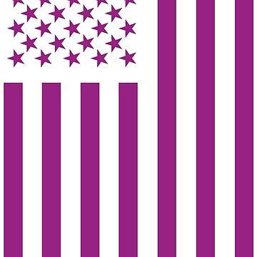 American Flag Purple  by Patriot76