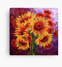 Sunflowers & Poppies Canvas Print
