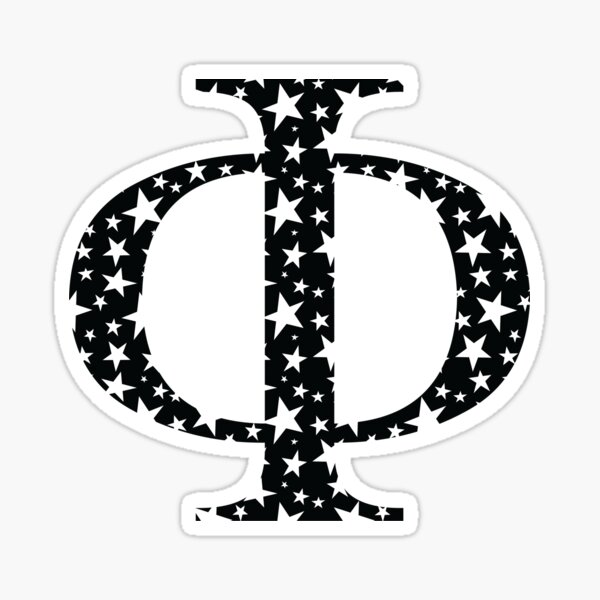 Phi Stars Sticker