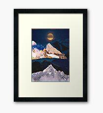 Landschafts-Collage # 79 Gerahmtes Wandbild