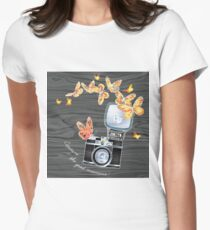 Aesthetic Old School Camera Women's Fitted T-Shirt