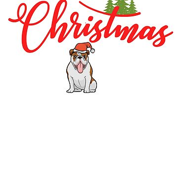 Christmas Dogs and Paws Funny French Bulldog T-Shirt Gift: | Christmas Santa Hat | baby, it's cold outside be jolly by golly  | cheerfulness best Christmas ever by larspat