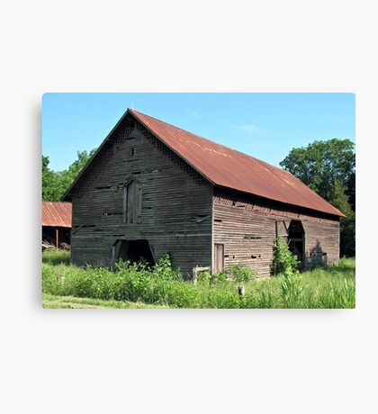 """A Simple and Old Timey Barn""... prints and products Canvas Print"