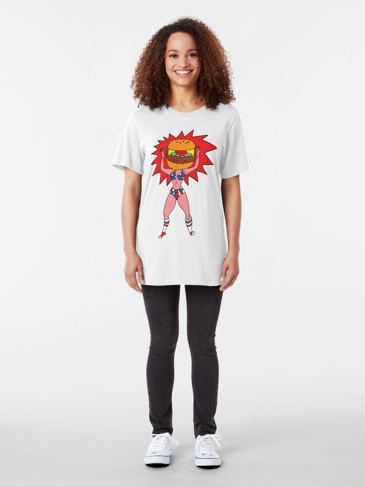Alternate view of Hamburger Head Slim Fit T-Shirt