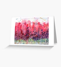 Tulip Trees - Abstract Landscape Greeting Card