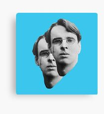W.B. Yeats - pop blue Canvas Print