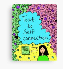 Text to Self Connection Canvas Print