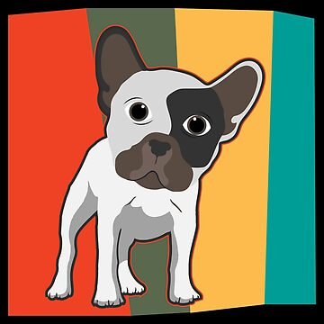 Pop Art French Bulldog Doggy Rainbow - Gift Idea by vicoli-shirts