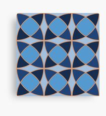 Geometric pattern with interlaced circles Canvas Print