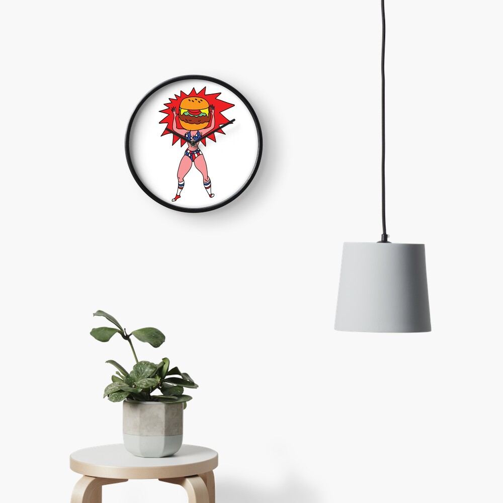 Hamburger Head Clock