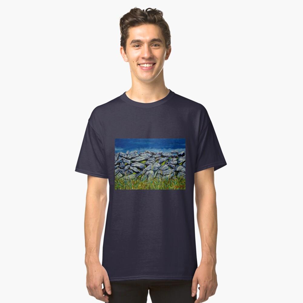 Burren Wall, Grafschaft Clare, Irland Classic T-Shirt
