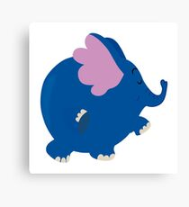 Blue Elephant Canvas Print