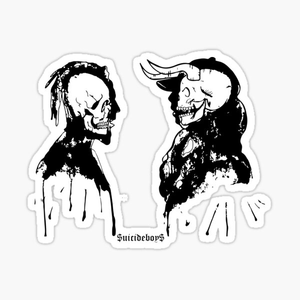 SuicideboyS $ uicideboy $ Art Outlines Demons Pegatina