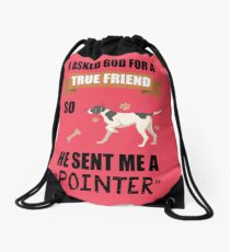 Pointer Mom & Dad Gifts Drawstring Bag