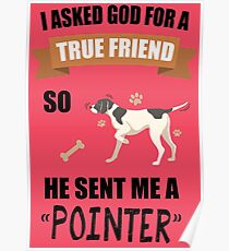 Pointer Mom & Dad Gifts Poster