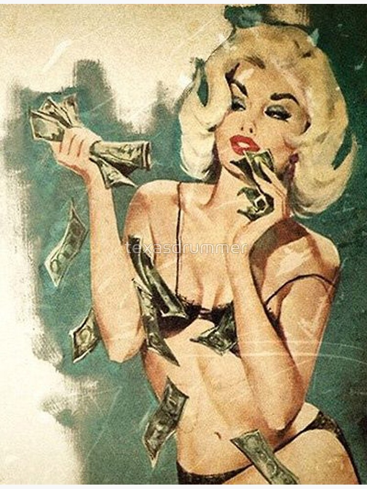 Retro money girl by texasdrummer