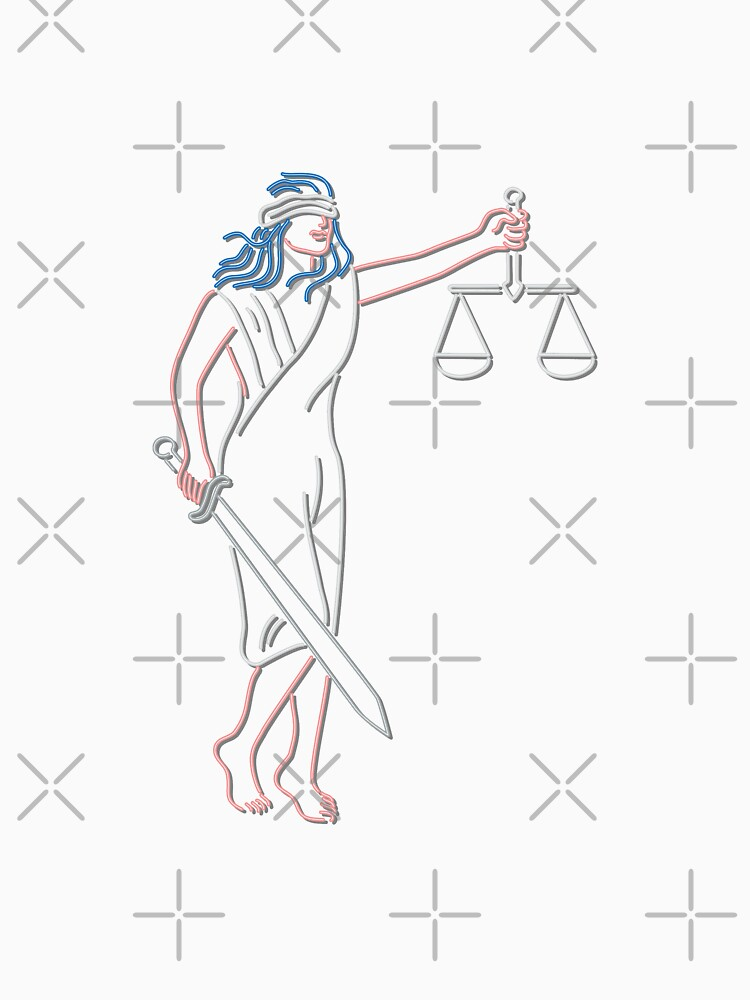 Lady Justice Holding Sword and Balance Neon Sign by patrimonio
