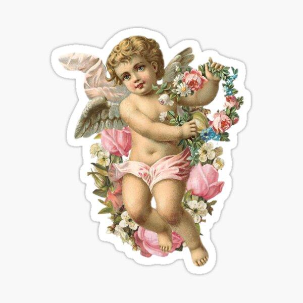Floral Baby Angel Sticker