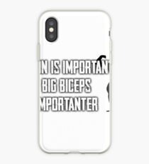 Fitness: Education Is Important, But Biceps Are Importanter iPhone Case