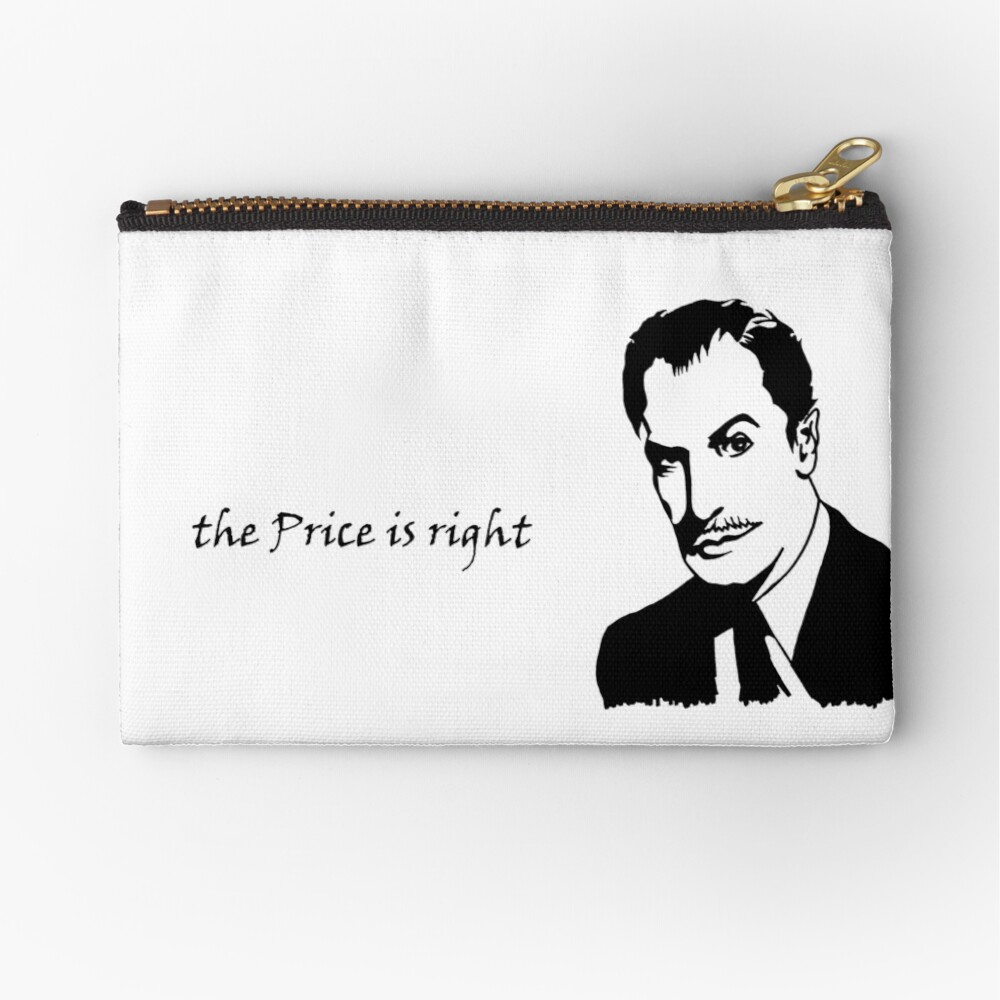 the Price is Right. Zipper Pouch