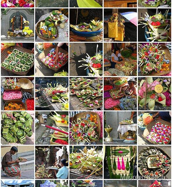 Bali -  Offerings by Maureen Keogh