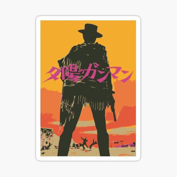 Vaporwave Western Vector Sticker