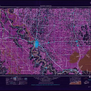 USGS TOPO Map Louisiana LA Baton Rouge 335208 1956 250000 Inverted by wetdryvac