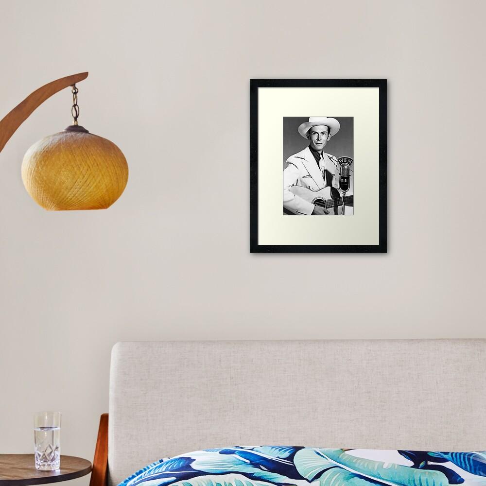 Hank Williams Framed Art Print