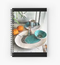 Coastal Pottery Spiral Notebook