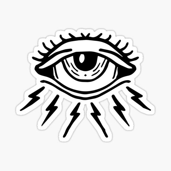 Crying Lightning / Electric eye Sticker