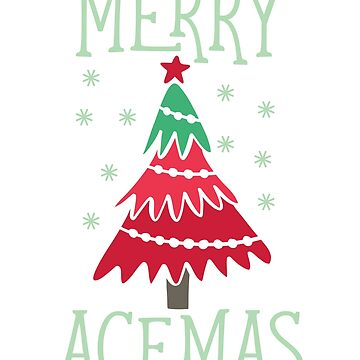 Merry Acemas Funny Gender Fluid T-Shirt Gift:   Asexual   Merry Christmas   Happy Holidays   by larspat