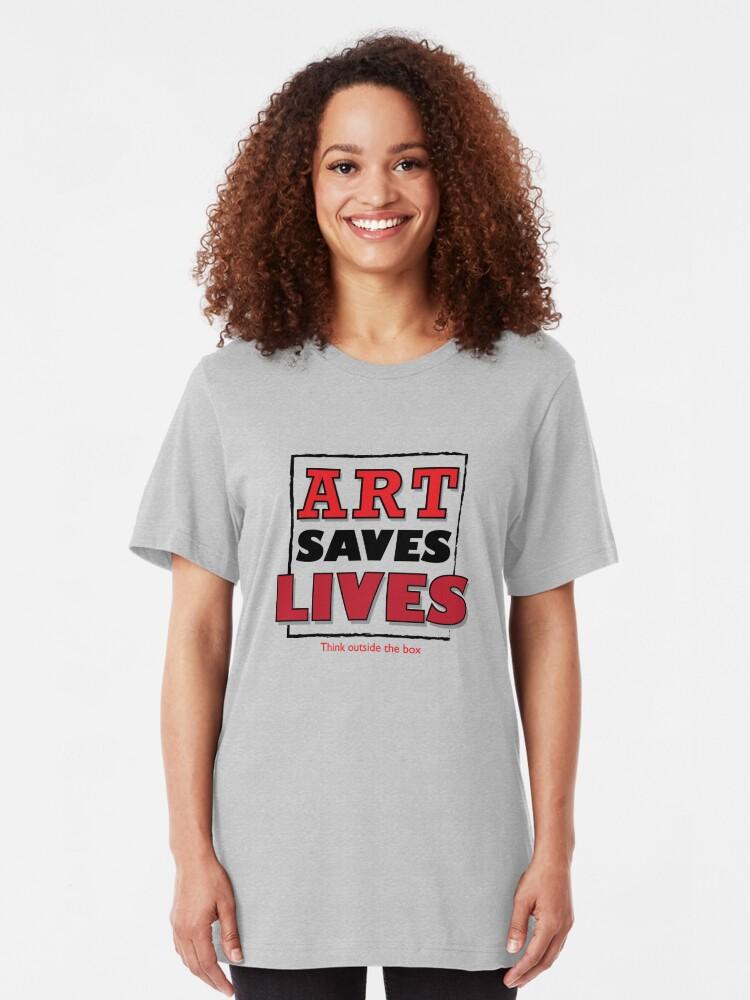 Alternate view of spread the GOSPEL of ART Slim Fit T-Shirt