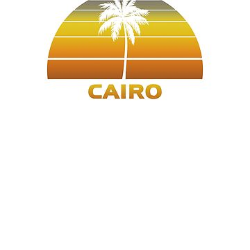 Vintage Cairo Beach Palm Tree Sunset Cool Family Vacation Souvenir by hlcaldwell
