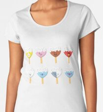 BT Eiscreme-Herz Frauen Premium T-Shirts