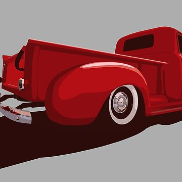 Chevy 3100 Pickup 2 - stylized color by mal-photography