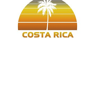 Vintage Costa Rica Beach Palm Tree Sunset Cool Family Vacation Souvenir by hlcaldwell
