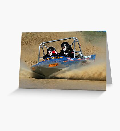 albury jet boat races Greeting Card