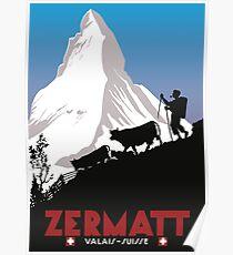 Zermatt, Wallis, Suisse Poster