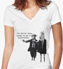 Pulp Sheperd Women's Fitted V-Neck T-Shirt