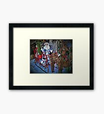 Here Comes Santa Claus Framed Print