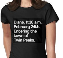 Twin Peaks - Diane... Womens Fitted T-Shirt