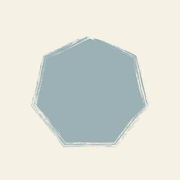 Pale Blue Octagon On Cream Stencil Effect by broadmeadow