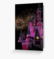 Fireworks in Pink Greeting Card