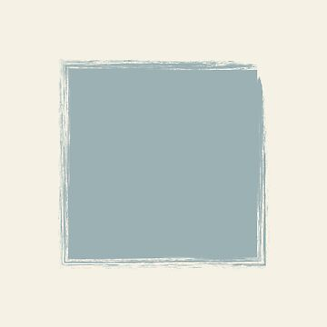 Pale Blue Square On Cream Stencil Effect by broadmeadow