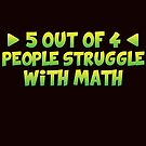 Savvy Turtle 5 Out of 4 People Struggle with Math by SavvyTurtle